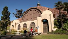 The Botanical Building in Balboa Park in San Diego Stock Footage