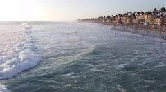 Oceanside California Beach 20140906 182830-- ProRes 422-- UHD Stock Footage