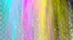 Animated waterfall of cyan, magenta, yellow and black colors mixing Stock Footage