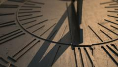 Sundial slight timelapse panning view 2 Stock Footage