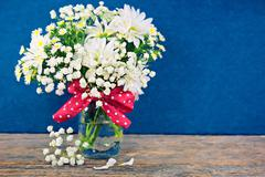 daisy bouquet impressionism - stock illustration