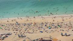 time lapse ocean beach vacation coastal Dubai UAE travel tourism lifestyle - stock footage
