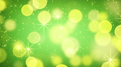 Yellow green bokeh light loopable background 4k (4096x2304) Stock Footage