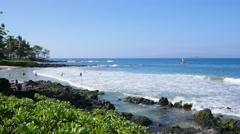 Polo Beach, Wailea, Kea Lani Resort, Maui, Hawaii Stock Footage
