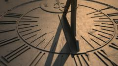 sundial slight timelapse panning view 1 - stock footage
