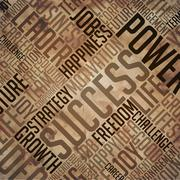 Success - Grunge Brown Word Collage Stock Illustration