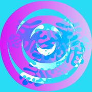 Abstract background meditation mandala irregular - stock photo