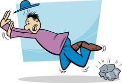 Stock Illustration of stumbling man cartoon illustration