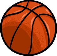 Stock Illustration of basketball ball cartoon clip art
