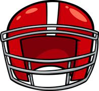 american football helmet clip art - stock illustration