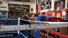 Boxing Gym - Dolly Shot Stock Footage