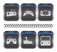 game console theme - stock illustration