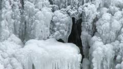 Icefall in winter in Canada Stock Footage