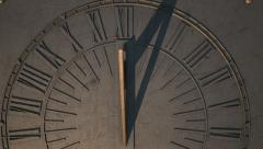 sundial slight timelapse panning view 4 - stock footage
