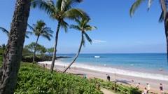 Maluaka Beach, Makena Beach & Golf Resort, Wailea, Maui Stock Footage