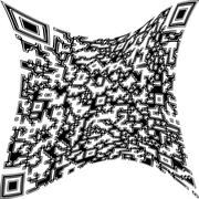 Illustration deformed QR code - stock photo