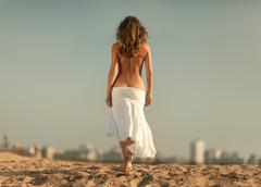 Girl with a bare back. Stock Photos