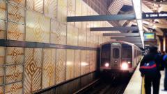 Los Angeles Metro Train Stock Footage
