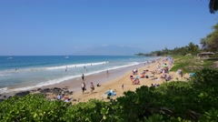 Kamaole Beach Park, Kihei, Maui, Hawaii Stock Footage