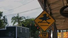 Haleiwa surf shop sign Stock Footage