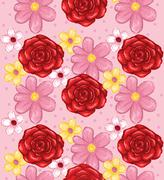 Abstract Elegance Seamless pattern with floral background Stock Illustration