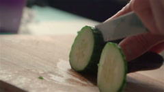 Stock Video Footage of Slow motion of cucumber