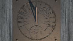Sundial slight timelapse panning view 5 Stock Footage
