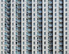 Old apartments in Hong Kong - stock photo