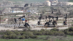 Central California Highway 101 San Ardo Oil Field 6 Stock Footage