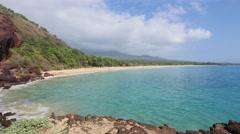 Makena Beach State Park, Maui, Hawaii Stock Footage