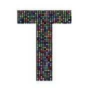 Stock Illustration of multicolor letter T