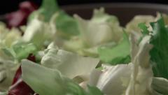Slow motion of salad - stock footage