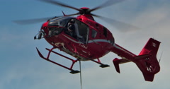 4K Eurocopter Industrial Work Helicopter Hover, Steady Shot Stock Footage