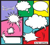 BALLON COMIC Stock Illustration