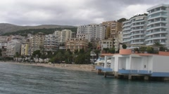 Saranda beach view, Albania Stock Footage