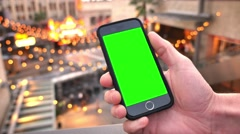 Green Screen Smartphone in Hollywood Stock Footage