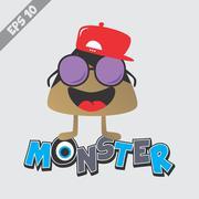 Cartoon monster character Stock Illustration