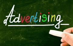 advertising concept - stock photo