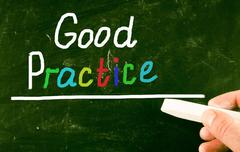 Stock Photo of good practice concept