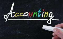 Accounting concept Stock Photos