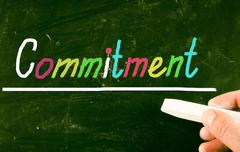 commitment concept - stock photo