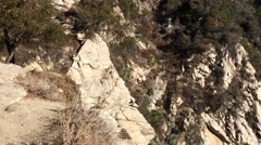 1st Person Perspective of a Treacherous Walk up to Mount Wilson Stock Footage