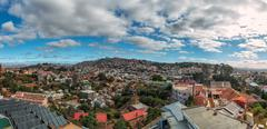 Densely packed houses on the hills of Antananarivo Stock Photos