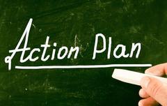 Action plan concept Stock Photos