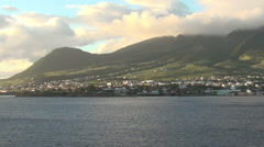 St Kitts in the Caribbean Stock Footage