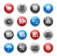 Network & Server Web Icons // Gel Pro Series Stock Illustration