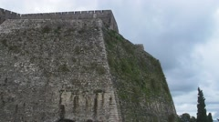 Old Fortress of Corfu Greece Stock Footage