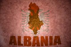 Vintage albania map Stock Photos
