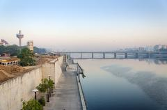 View of Sabarmati Riverfront in Ahmedabad Stock Photos