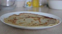 Stacking hot Pancake Stock Footage